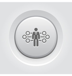 Flow management icon vector