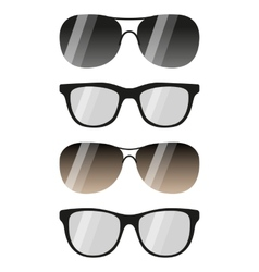 glasses and sunglasses set vector image