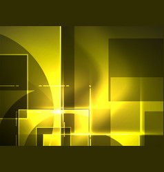 Glowing squares in the dark digital abstract vector