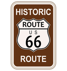Historic route 66 vector