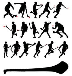 Irish hurlers vector image