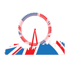 Isolated cityscape of london vector