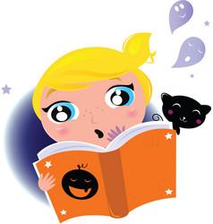 kid reading vector image vector image