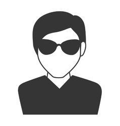 man guy boy person sunglasses face head icon vector image