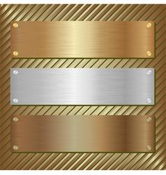 metallic plate vector image vector image