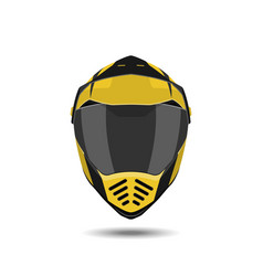 Motorcycle helmet on a white background vector