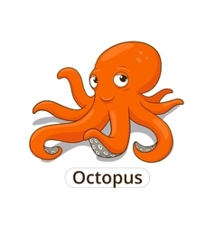 Octopus sea animal fish cartoon vector
