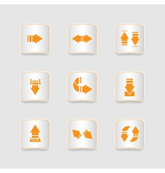Paper icons set arrows vector image