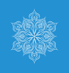 Patterned snowflake icon simple style vector