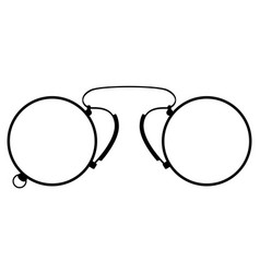 Pince-nez old retro vintage icon stock vector