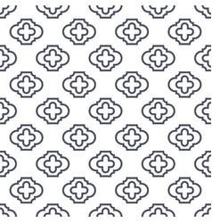 Quatrefoil seamless line pattern vector