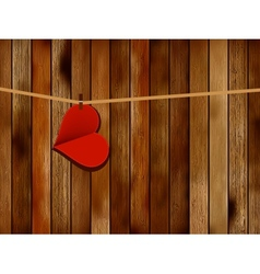 Red paper heart hanging EPS10 vector image vector image