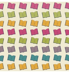 School pattern with books vector image