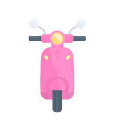 Scooter pink version vector