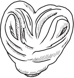 sweet bun vector image