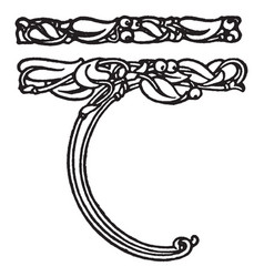 Vines border have a intertwined bives and birds vector