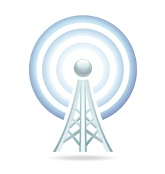 wi-fi tower icon vector image vector image