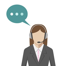 Woman in call center vector