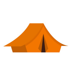 yellow tent icon flat style vector image