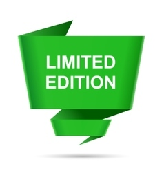 Speech bubble limited edition design element sign vector