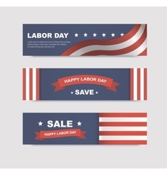 Set of banners with flags vector image