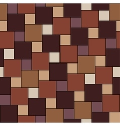 Warm brown tiles seamless pattern vector