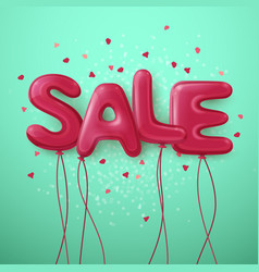sale balloon letters background vector image
