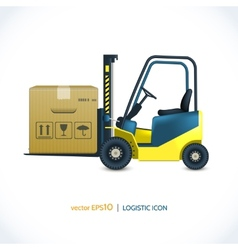 Logistic icon forklift vector