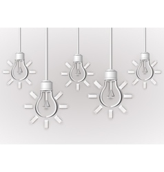 Paper light bulbs vector image