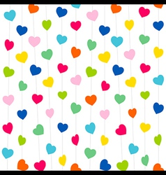Colorful heart pattern background design vector