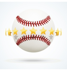 baseball leather ball with vector image