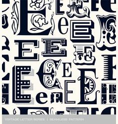 Seamless vintage pattern letter e vector