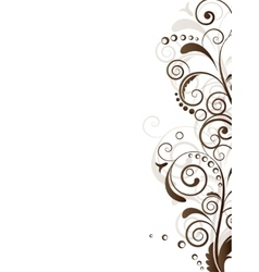 Ornamental border with floral elements and swirls vector