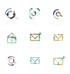 Email business symbols or at signs logo set vector