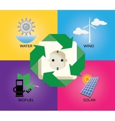 Green energy alternative icon wind turbine vector