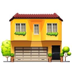 A big yellow house vector