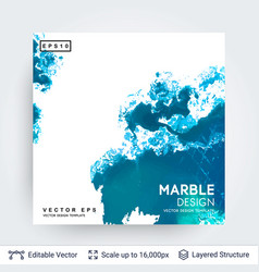 Abstract ink background marble style vector