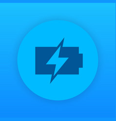 Charging battery icon round pictogram vector