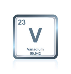 Chemical element vanadium from the periodic table vector