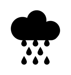 Cloud with rain drops climate sign isolated icon vector