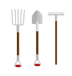 gardening set tools icons vector image vector image