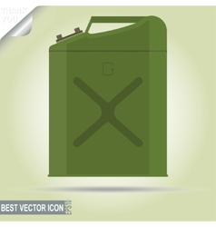 Gasoline jerry can vector image