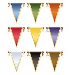 Glossy pennants vector