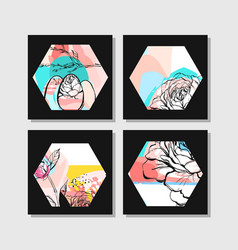 Hand drawn abstract creative unusual modern vector
