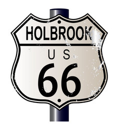 Holbrook route 66 sign vector