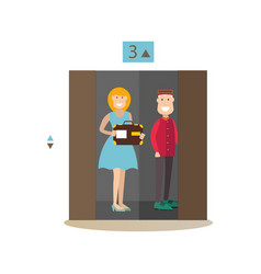 Hotel elevator in flat style vector