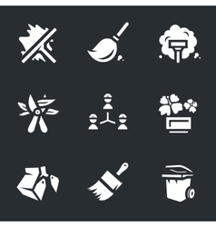Icons set of utility service vector