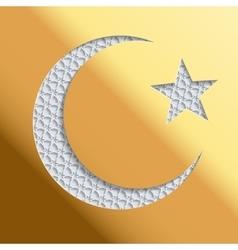 Islamic greeting card template vector