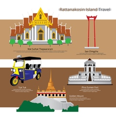 Japan Landmark and Travel Attractions vector image