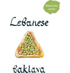 Lebanese baklava vector